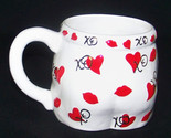 Valentine XOXO Heart Lips Kisses Ceramic Coffee Mug Cup