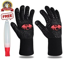 BBQ Grill Cooking Gloves 1472°F Extreme High Heat Resistant Oven Baking ... - $15.28
