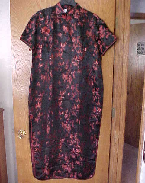 Ladies Large NWOT  Size Oriental Dress Red & Black Another Thyme