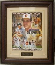 Cal Ripken, Jr. signed Baltimore Orioles Collage 16x20 Custom Framed HOF... - $249.95