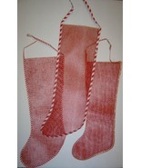 3 Large Vintage Christmas Mesh Christmas Stockings - $12.00