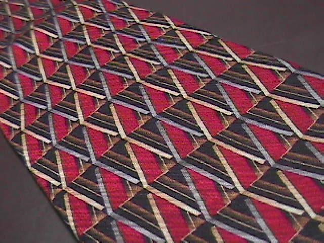 Daniel De Fasson Silk Hand Made Neck Tie Reds