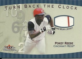 2001 Fleer Tradition Turn Back The Clock Pokey Reese TBC4 Reds - $4.00