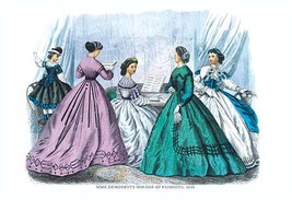 Mme. Demorest's Mirror of Fashions, 1840 #8 - Art Print - $19.99+