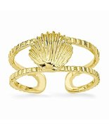 14k Sea Shell Toe Ring, Best Quality Free Gift Box - £85.82 GBP
