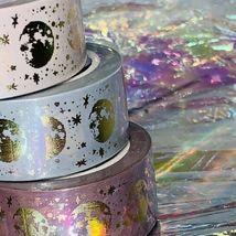 Sealed PAPERGEEK Washi Lunar Magic Gold Foil 33 Foot Rolls YOU GET ALL 3 Mauve image 3