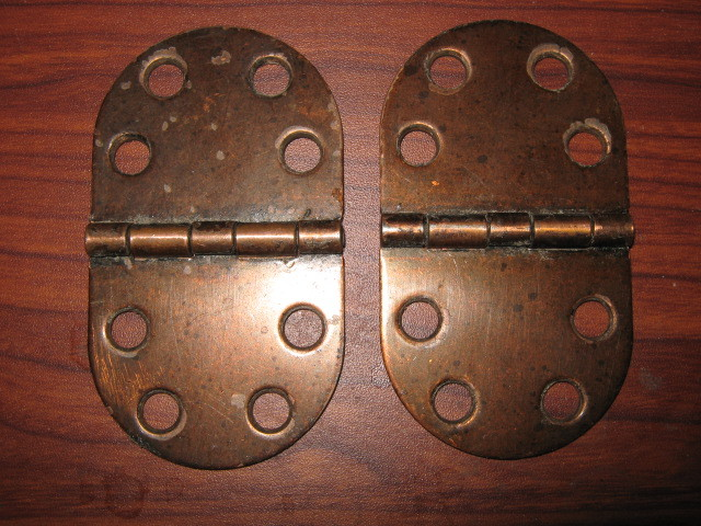 Sewing Machine Large Brass Table Top Hinges Set of 2 - $3.00