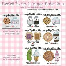 Kawaii Perfect Couple Collection cross stitch chart Pinoy Stitch - $10.80