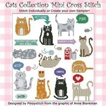 Cats Collection cross stitch chart Pinoy Stitch - $10.80