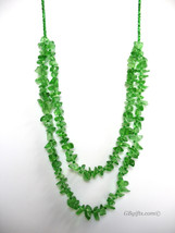 Green double layer necklace  #N1500001 - $19.00