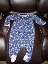 Carter's Just One You Navy Blue Unicorn Print Sleeper Size 6 Months Girl's EUC - $14.96