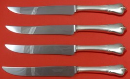 Grand Colonial by Wallace Sterling Silver Steak Knife Set 4pc Texas Sized Custom - $281.30