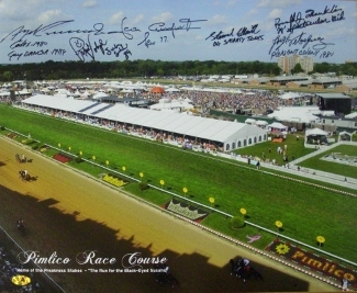 Primary image for Smarty Jones signed Preakness Stakes Winners Pimlico Race Course Horse Racing 16