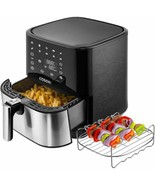 COSORI Stainless Steel Air Fryer (100 Recipes, Rack  5 Skewers), 5.8Qt L... - £114.60 GBP+