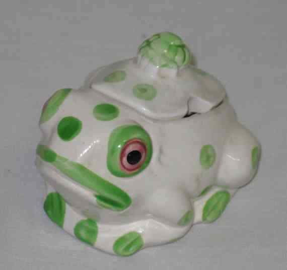 "WONDERFUL Vintage 3"" FROG Condiment Dish"