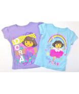 Nickelodeon Dora The Explorer Girls T-Shirts Purple or Blue Sizes 4  5-6... - $9.09