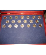 First 20 $1 Presidential Coins- Uncirculated- In Franklin Mint Wood Disp... - $50.00