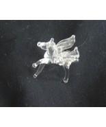 Vintage Glass MIniature Pegasus Horse - $24.99