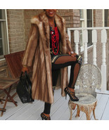 Mint Designer Neiman Marcus Full length Stone Marten Sable Fur coat jack... - $2,474.99