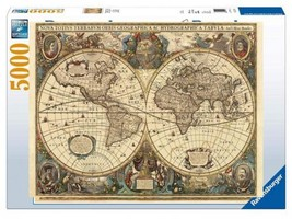 Ravensburger - 17411 - Puzzle - 5000 Pièces Mappemonde antique  - $73.79