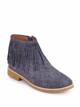 Kate Spade New York Betsie Too Fringed Chambray Ankle Boots MSRP: $258.00 - $149.99