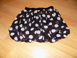 Girl's Size 8 The Children's Place Black White Polka Dot Bubble Hem Mini... - $15.00