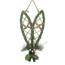 """12"""" Green Hanging Snowshoe Christmas Wall Decoration - $16.57"""