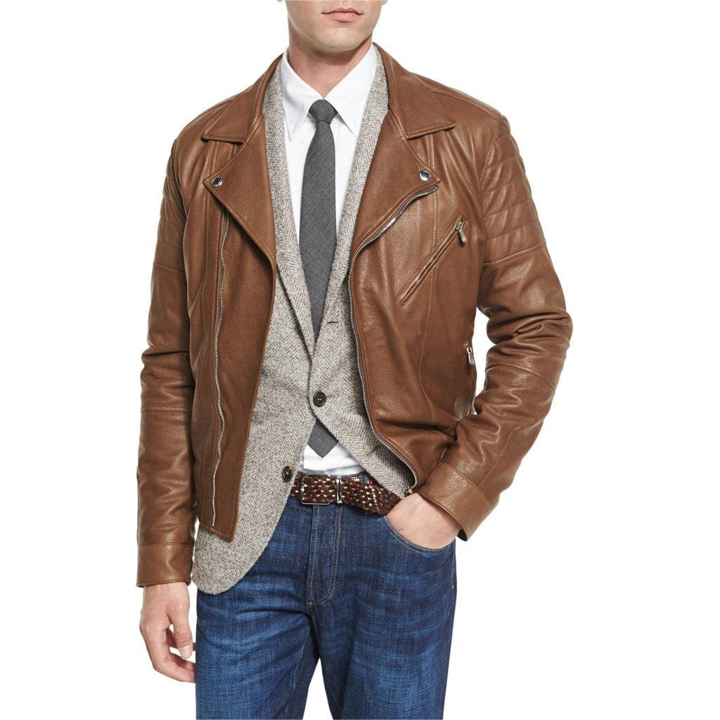 Biker Men Leather Jacket