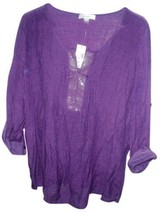 Dressbarn Purple Semi Sheer Sequin Tunic Size 16 (XL) - $14.84