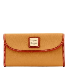 Dooney & Bourke Pebble Leather Clutch Wallet **Saffron** - $128.00