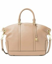 Michael Kors Oyster Leather Beckett Large Satchel Bag (Oyster) - $188.00