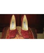 Women Pumps Burgundy Size 7.5 Medium Leather Upper, Leather Sole - $49.99