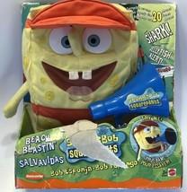 New Mattel Beach Blastin Spongebob Squarepants Talking Plush Viacom 2002 - $39.15