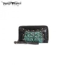 Montana West Trinity Ranch floral tooled leather embellished Wallet Wristlet - $36.99