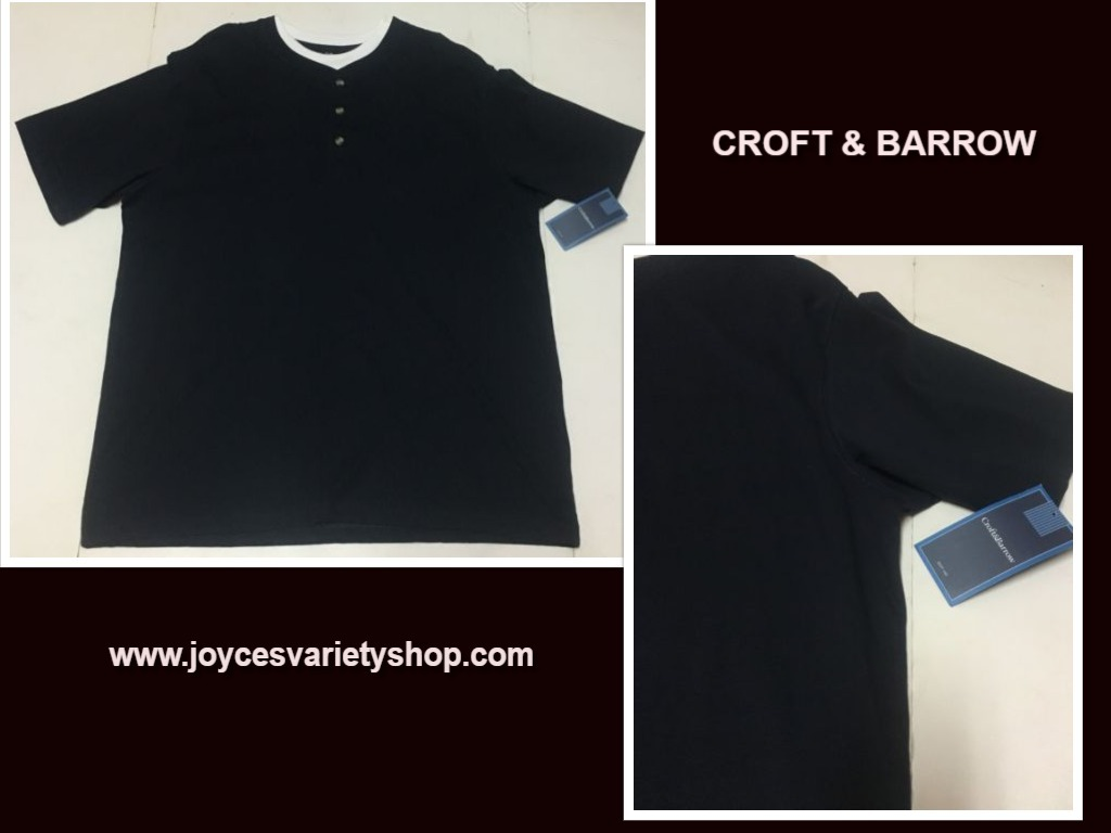 Croft barrow navy blue xl mens shirt web collage