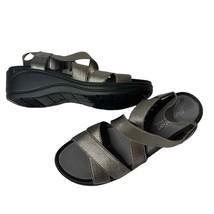 Easy Spirit Criss Cross Comfort Sandals Metallic - $27.72