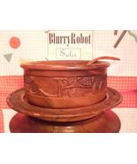 Carved Wooden Bowl - Platter - Ladle - Dandasan Handicrafts Philippines - $34.20