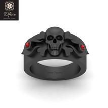 Jolly Roger Inspired Gothic Skull Cross Bones Band Unisex Jewelry Gun Metal Fn - $1,499.99