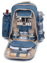 CAMPER POLYESTER DELUXE PICNIC BACKPACK FOR TWO (2) - ABG - $89.00