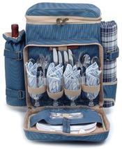 POSH CAMPER POLYESTER DELUXE PICNIC BACKPACK FOR FOUR (4) - ABG - $85.00