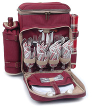 POSH CAMPER POLYESTER DELUXE PICNIC BACKPACK FOR FOUR (4) - ABI - $85.00