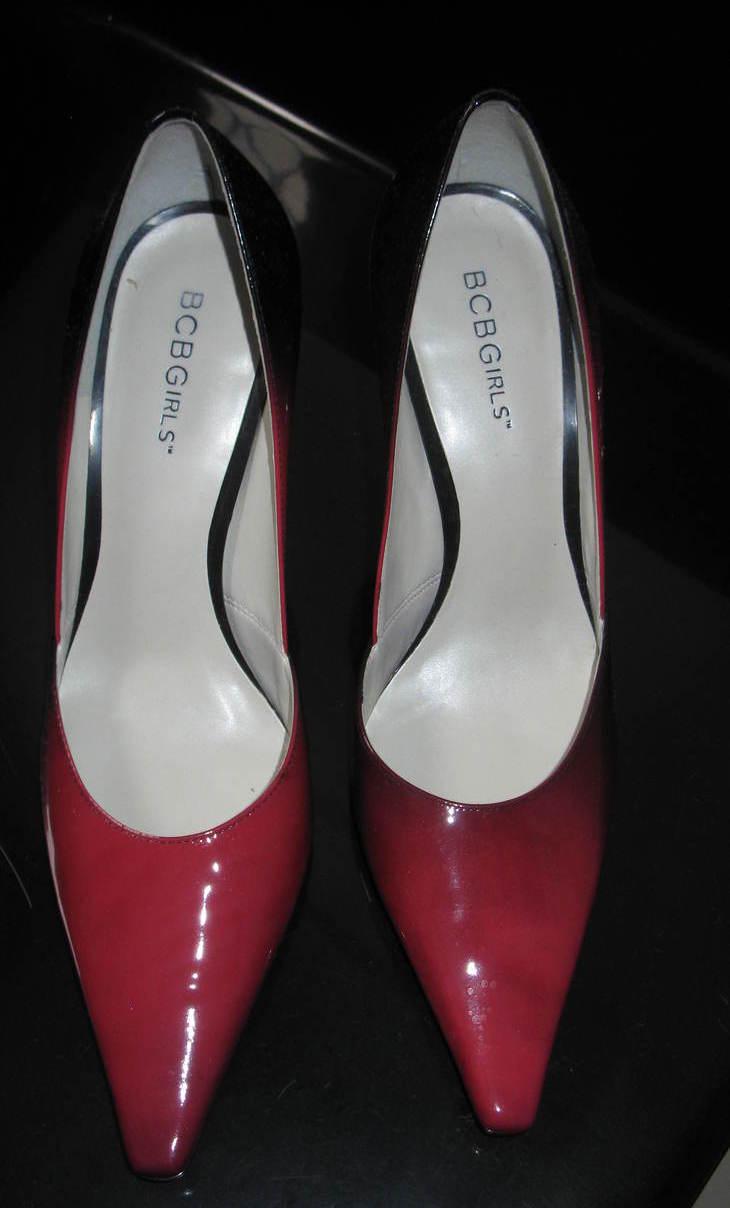Women Pumps Red and Black Size 7.5 Medium BCB Girls  Bonanza