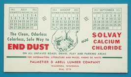 SOLVAY Cold Weather Road Protection - 1953 AD Ink Blotter Waukesha Wisco... - $4.49