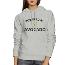 Powered By Avocado Unisex Gray Hoodie Crewneck Trendy Design Fleece - $25.99+