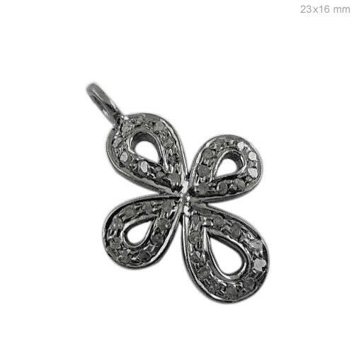 Primary image for Pave Diamond Religious Cross Charm Pendant Sterling Silver Christmas Jewelry NEW