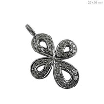 Pave Diamond Religious Cross Charm Pendant Sterling Silver Christmas Jew... - $26.80