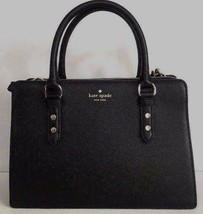 New Kate Spade Lise Mulberry street Leather Satchel handbag Black - $178.87 CAD