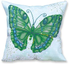 Diamond Dotz Green Butterfly Pillow 5D Diamond Painting Facet Art Kit - $27.95