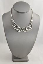 "VINTAGE Jewelry SIGNED ""JEWELRY FASHIONS"" HAND SET RHINESTONE BIB NECKLA... - $15.00"