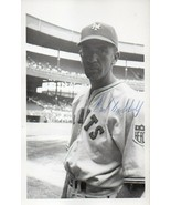 CARL HUBBELL Autograph. Signed on picture postcard. Polo Grounds in back... - $20.78